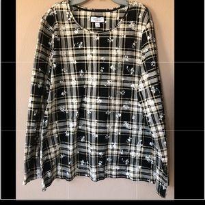 NWT Women's Charter Club Plaid blouse top